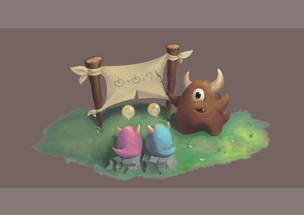 可爱小怪物 2 3 分钟前 发布 分类: 原创 标签: 插画 q版 角色