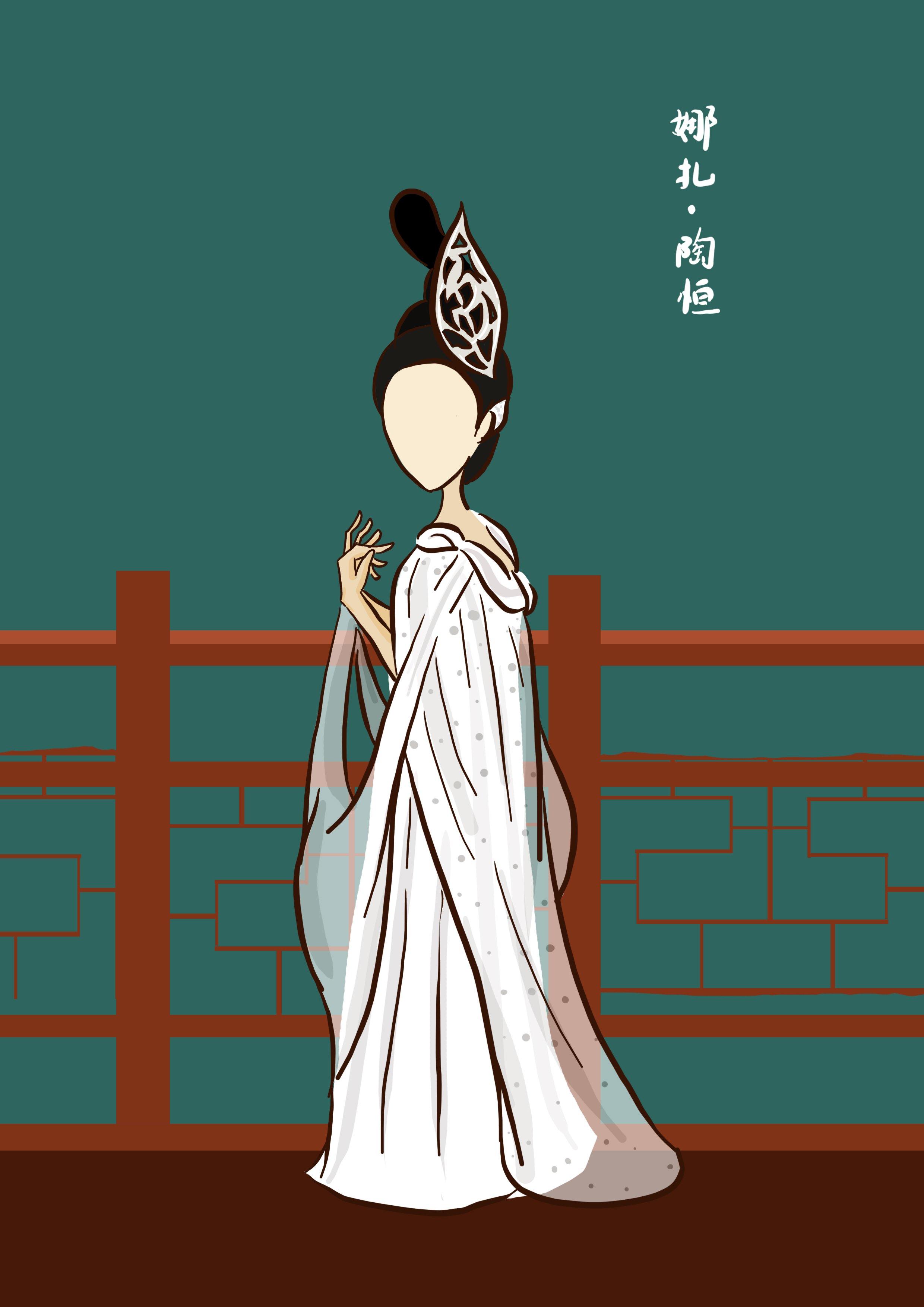 分类: 原创 标签: 原创 同人 青丘狐传说 简约,原创,古风,无脸小人  q